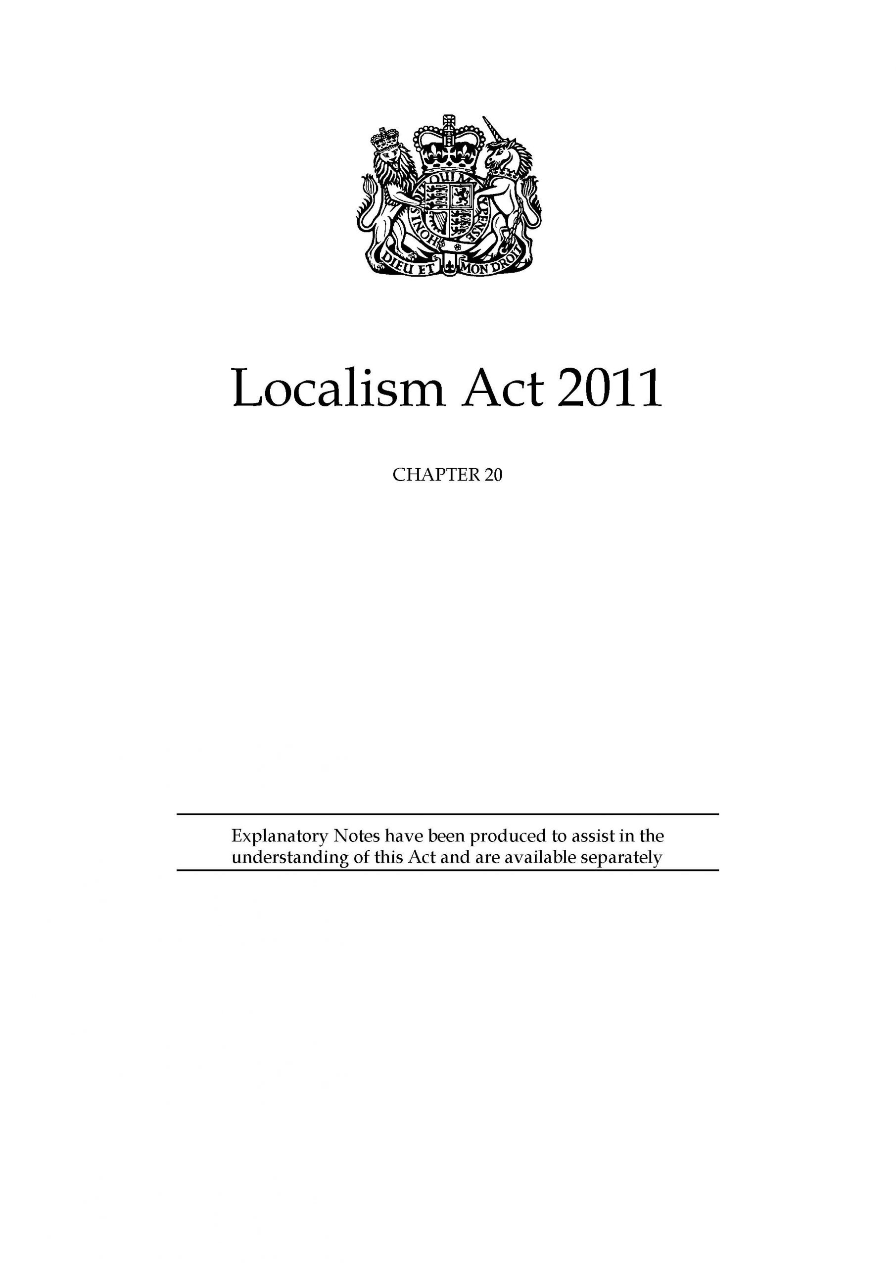 Localism Act 2011 – Part 5 – Chapter 3